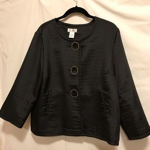 Kim Rogers quilted 3/4 sleeve jacket